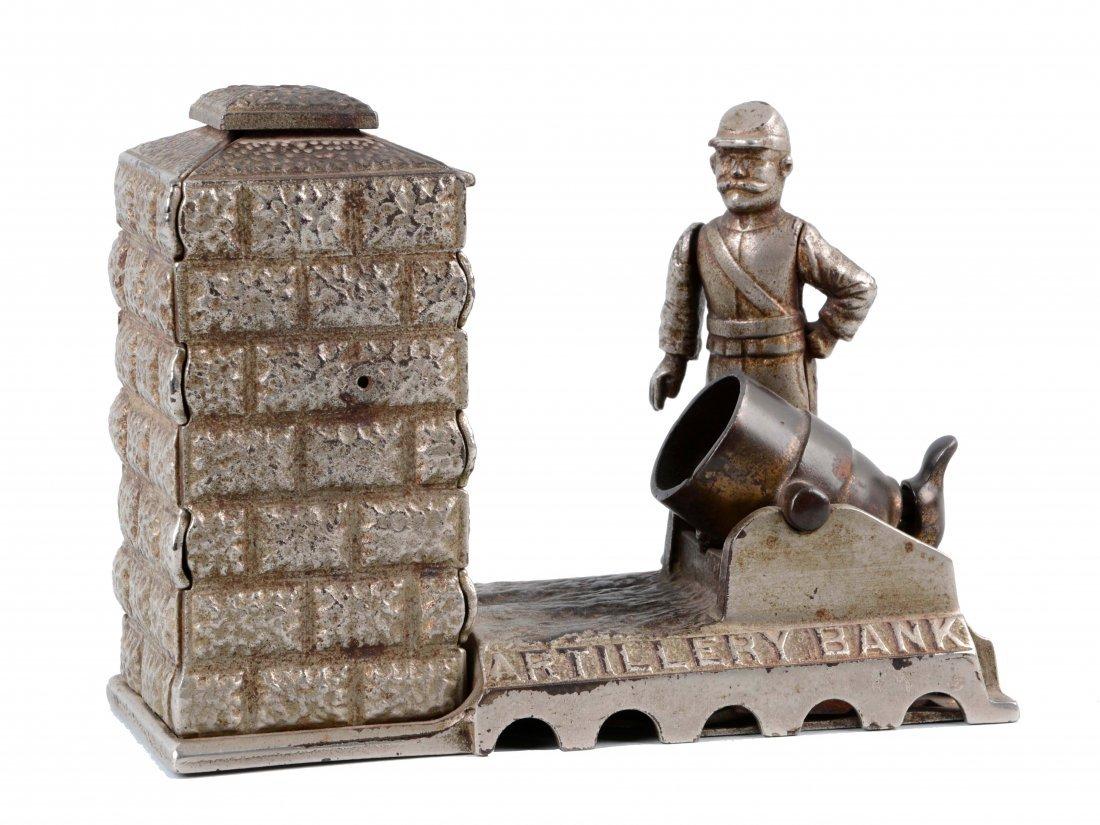 Artillery Cast Iron Mechanical Bank.