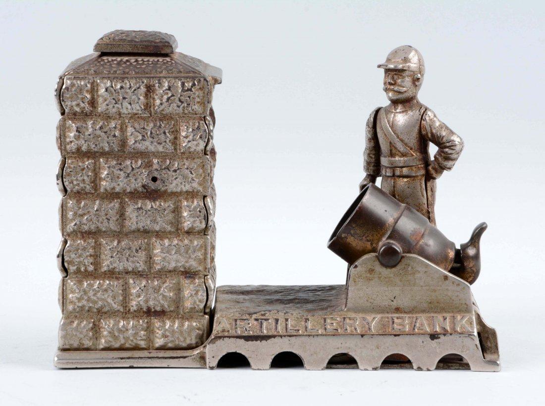 Artillery Cast Iron Mechanical Bank. - 3