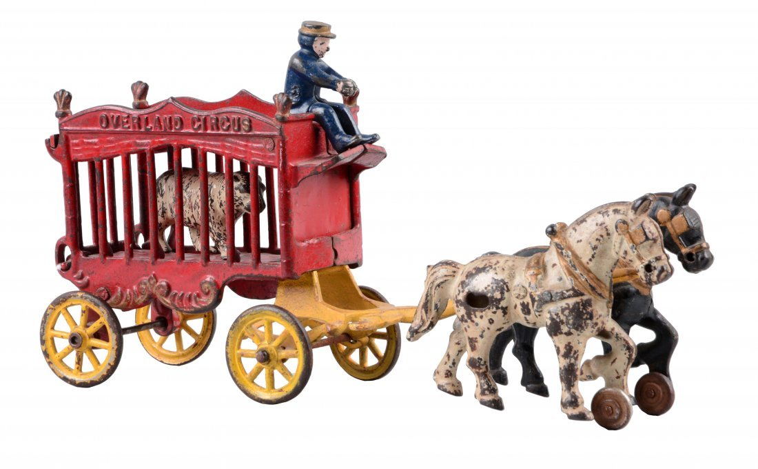 Cast Iron Kenton Horse Drawn Overland Circus Wagon