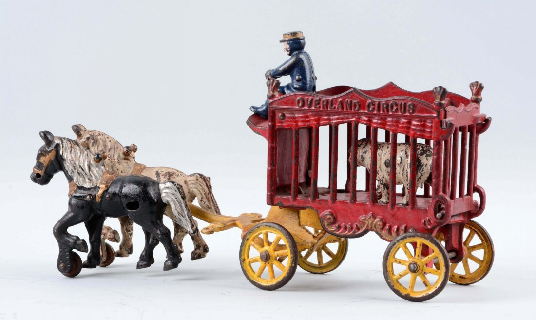 Cast Iron Kenton Horse Drawn Overland Circus Wagon - 2