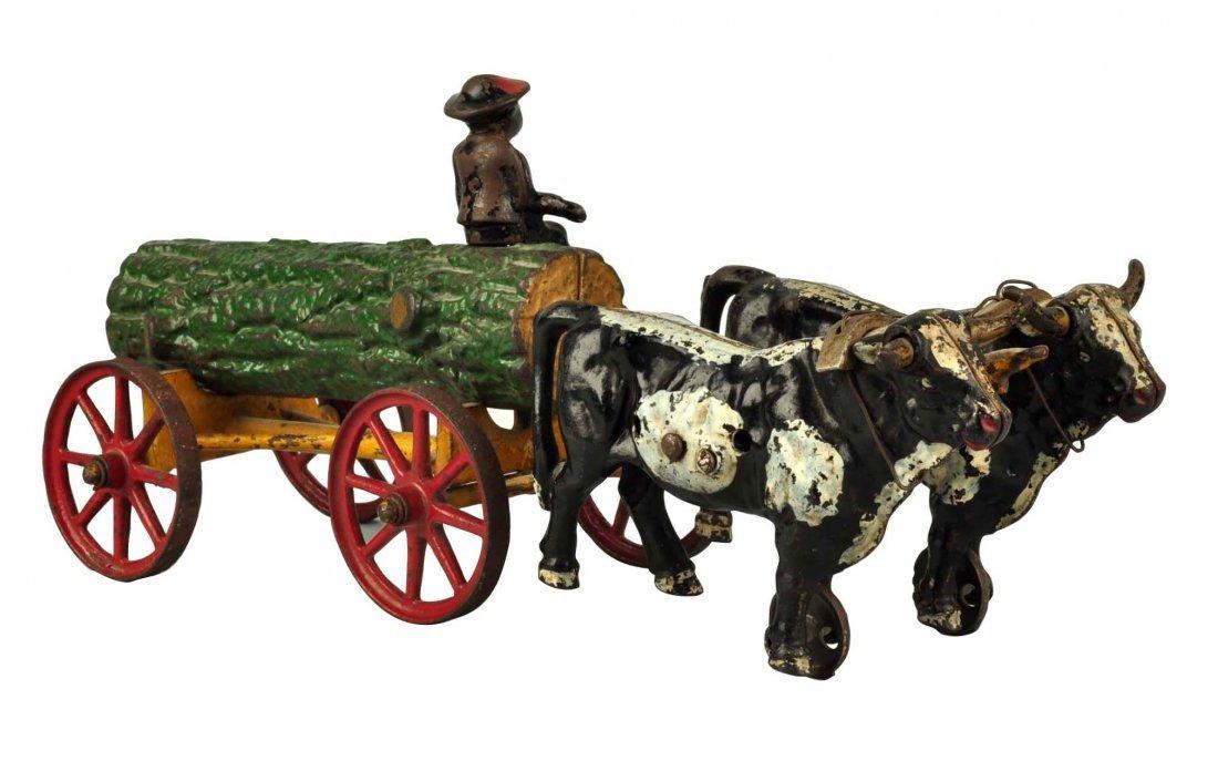 Kenton Cast Iron Ox Driven Log Cart..