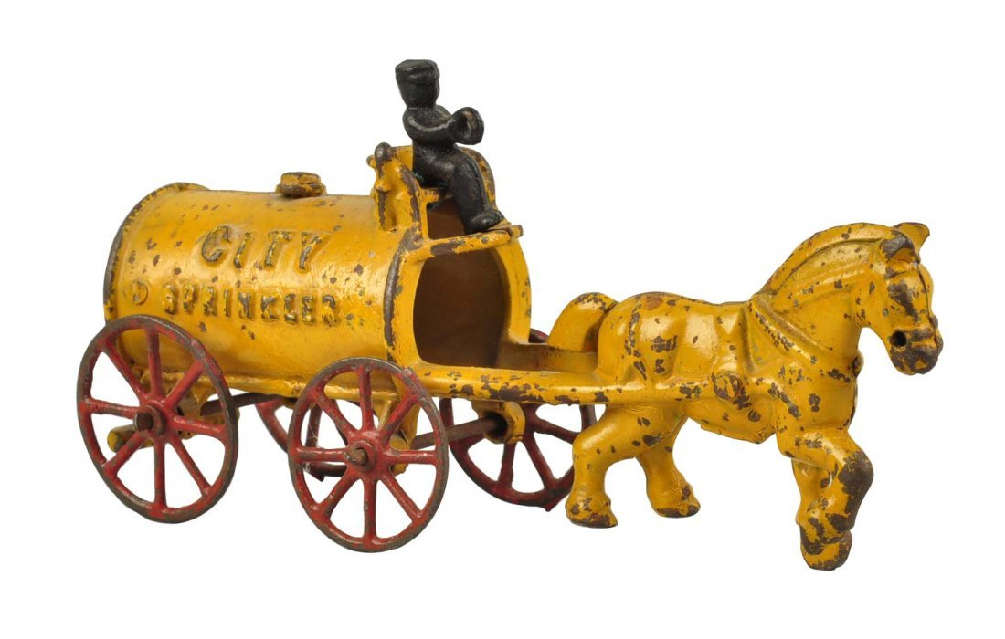 Kenton Cast Iron City Sprinkler Horse Drawn.