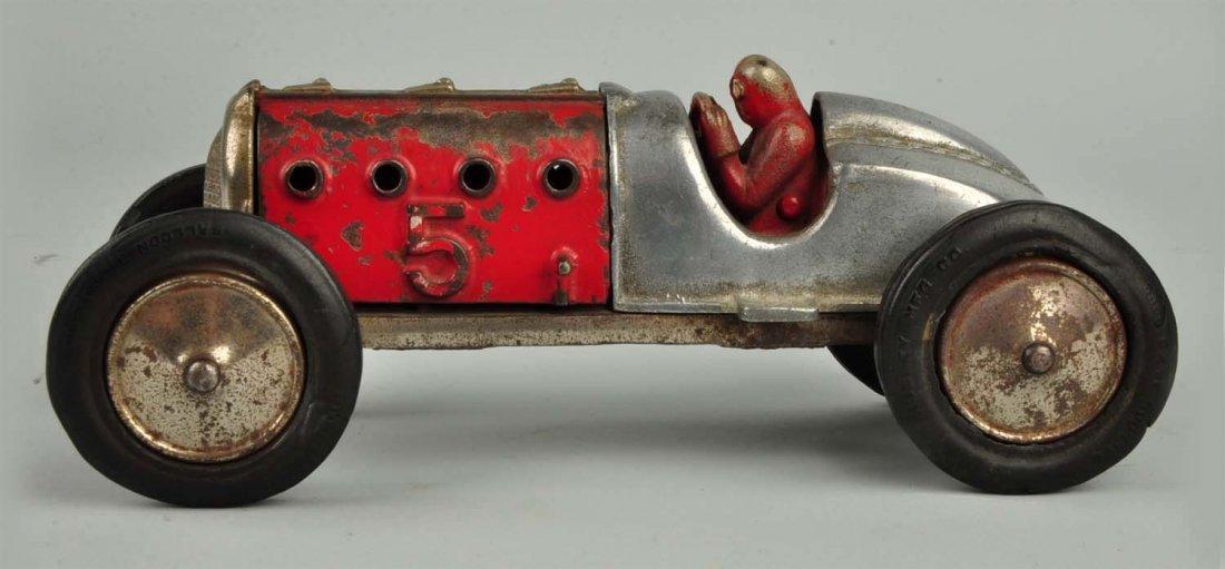 Hubley Cast Iron Race Car #5. - 4