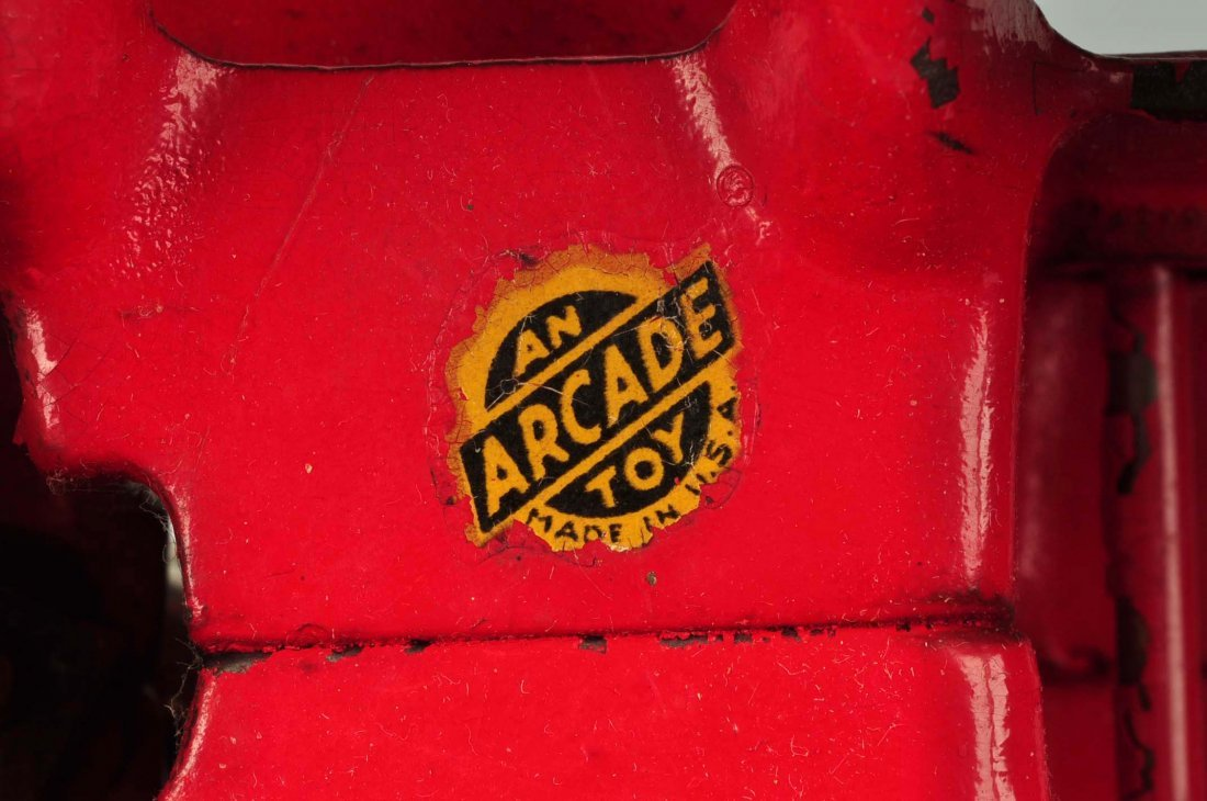 Arcade International Diesel Red Cast Iron Tractor. - 5