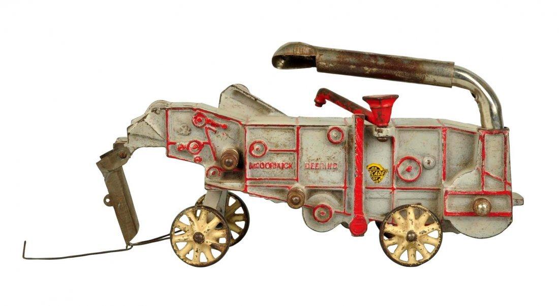 Cast Iron McCormick Deering Farm Thresher Machine.