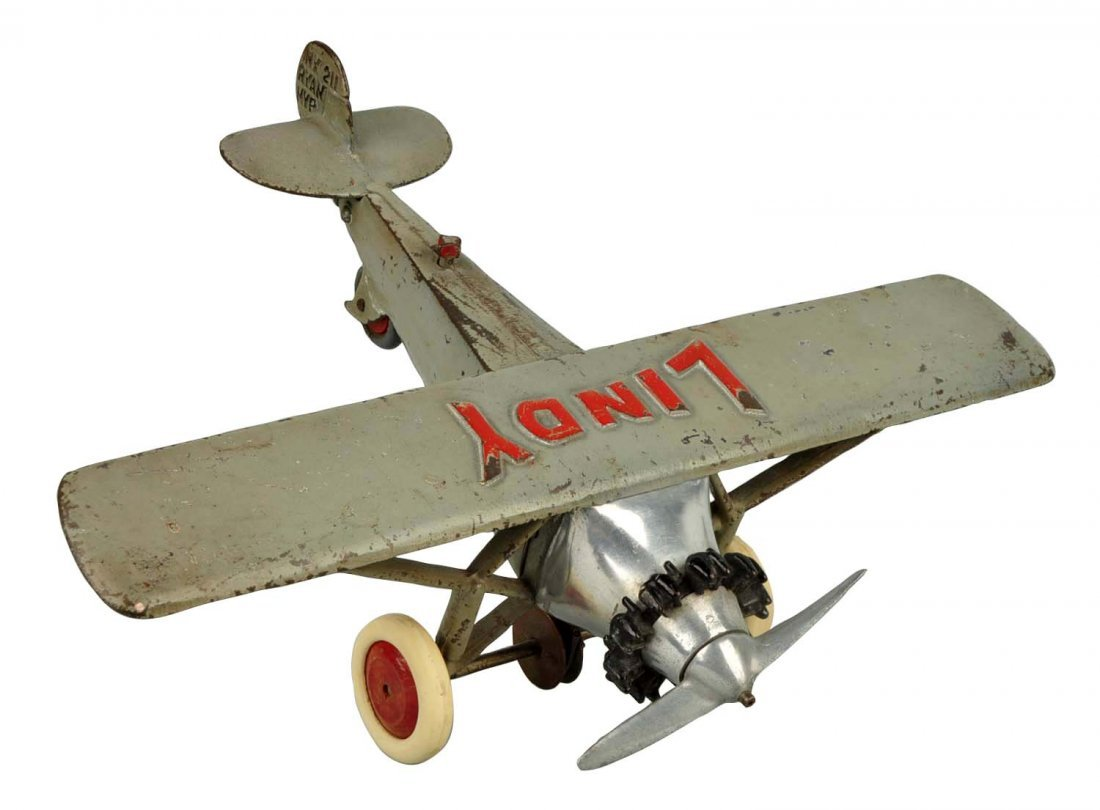 Cast Iron Hubley Lindy Airplane.