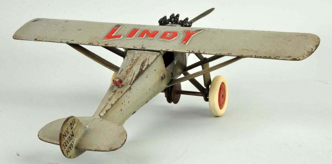 Cast Iron Hubley Lindy Airplane. - 2