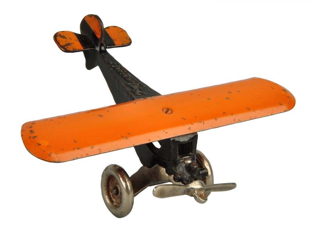 Arcade Cast Iron Monocoupe Airplane.