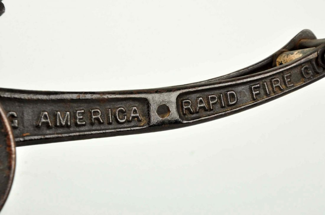 Early Cast Iron Young America Rapid Fire Gun. - 3