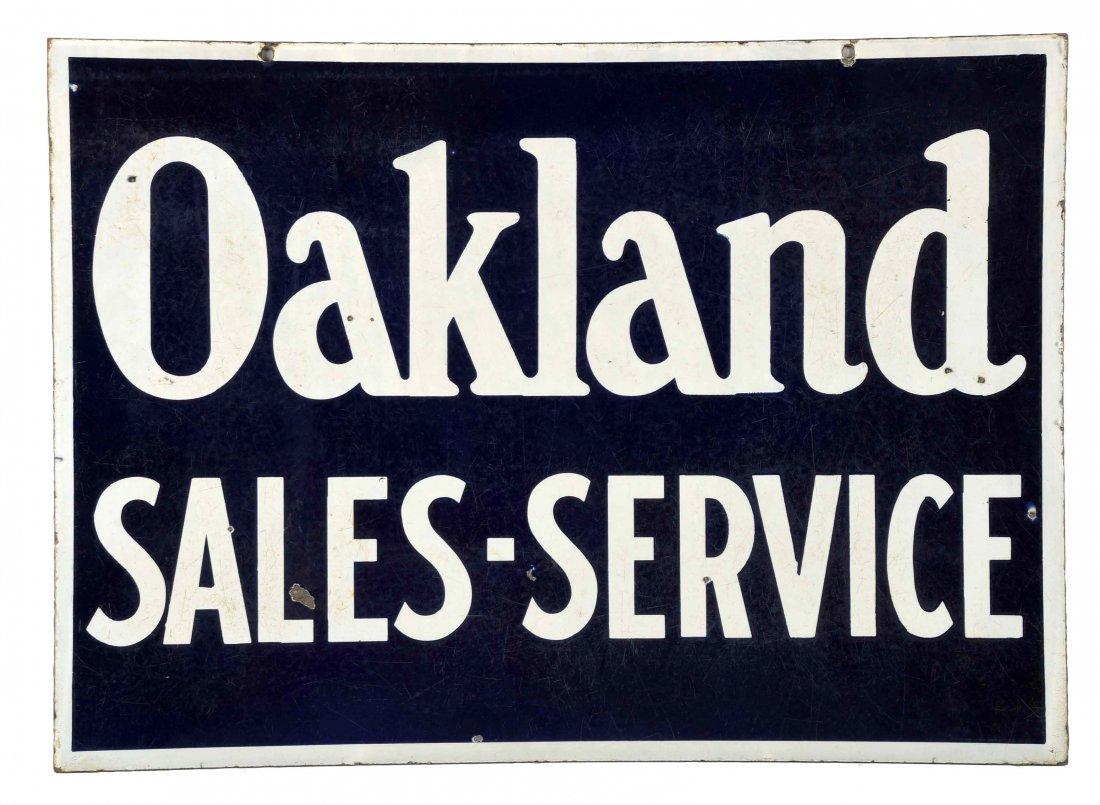 Oakland Sales-Service Porcelain Sign.