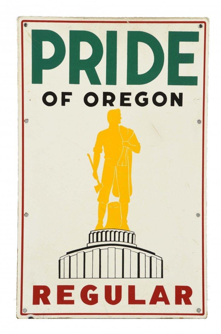 Pride of Oregon Regular w/ Logo Procelain Sign.