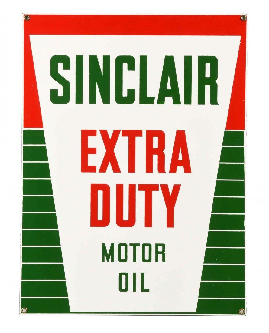 Sinclair Extra Duty Motor Oil Porcelain Sign.