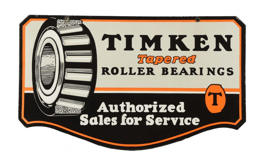 Timken Authorized Sales & Service Diecut Sign.