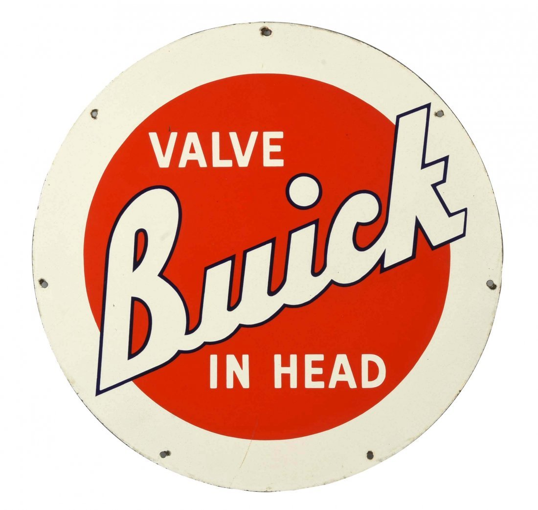"""Buick """"Valve in Head"""" Porcelain Sign."""