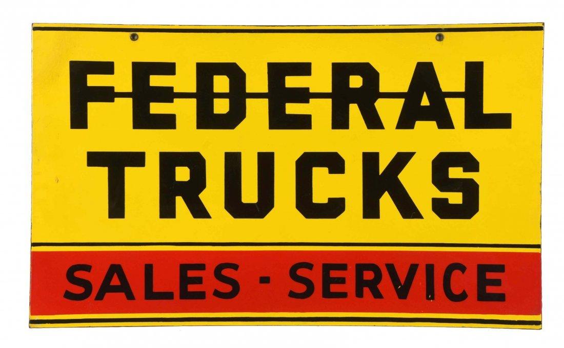 Federal Trucks Sales-Service Porcelain Sign.