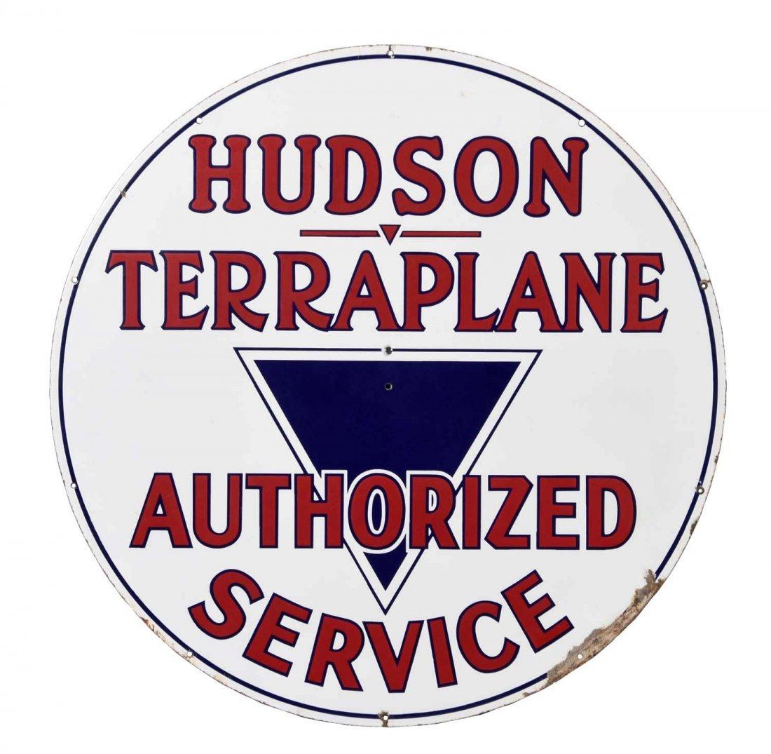 Hudson Terraplane Authorized Service Porcelain Sign.