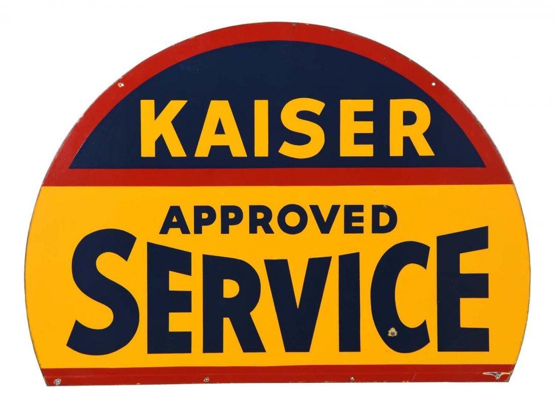 Kaiser Frazer Approved Service Porcelain Sign.