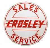 Crosley SalesService auto Porcelain Sign
