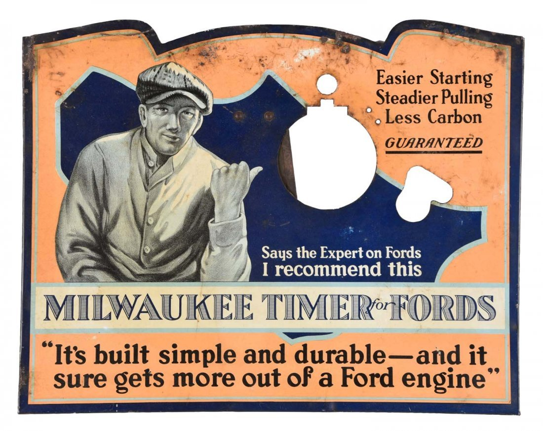 Milwaukee Timer For Fords Tin Easel Back Countertop