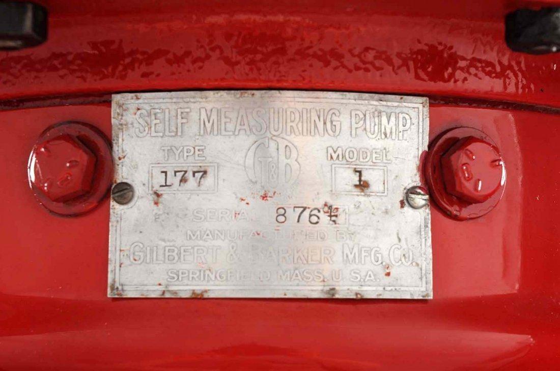 G&B #176 Five Gallon Visible Gas Pump. - 4