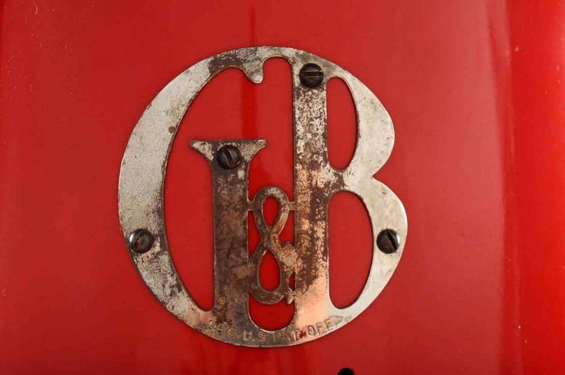 G&B #176 Five Gallon Visible Gas Pump. - 6