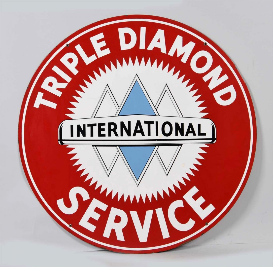 International Triple Diamond Service Porcelain Sign. - 2