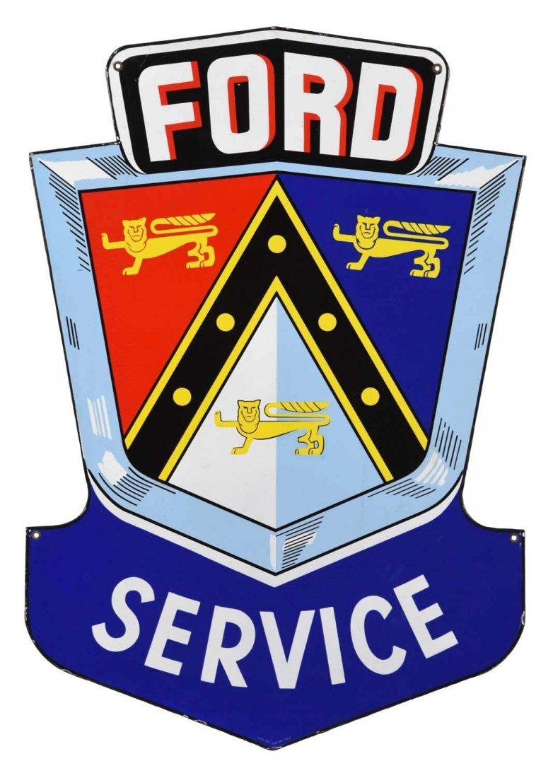 Ford Service w/Jubilee Logo Porcelain Sign.