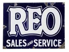 REO Sales  Service Porcelain Sign
