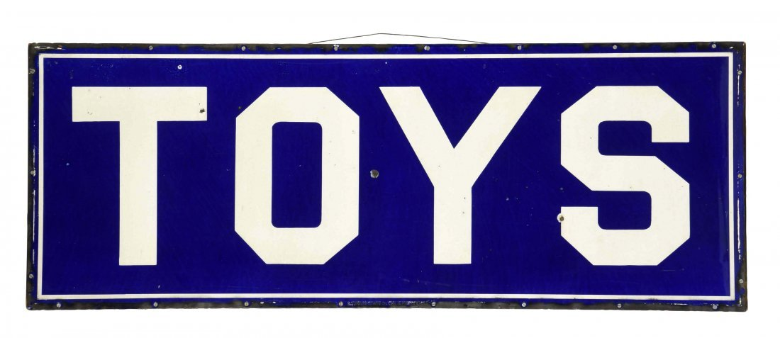 TOYS Porcelain Sign.