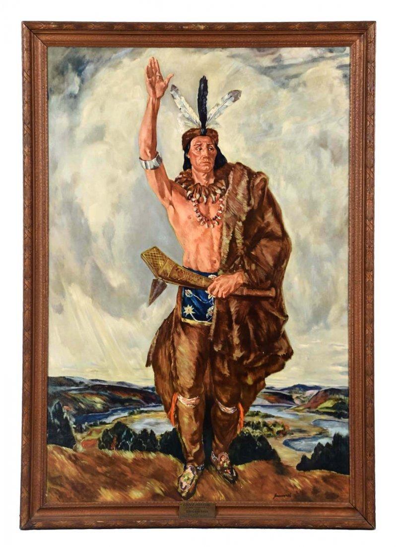 Chief Pontiac Show Room Poster.