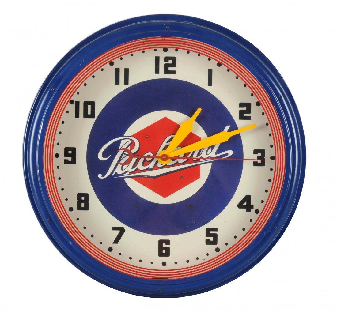 Packard Lug Nut Logo Neon Clock.