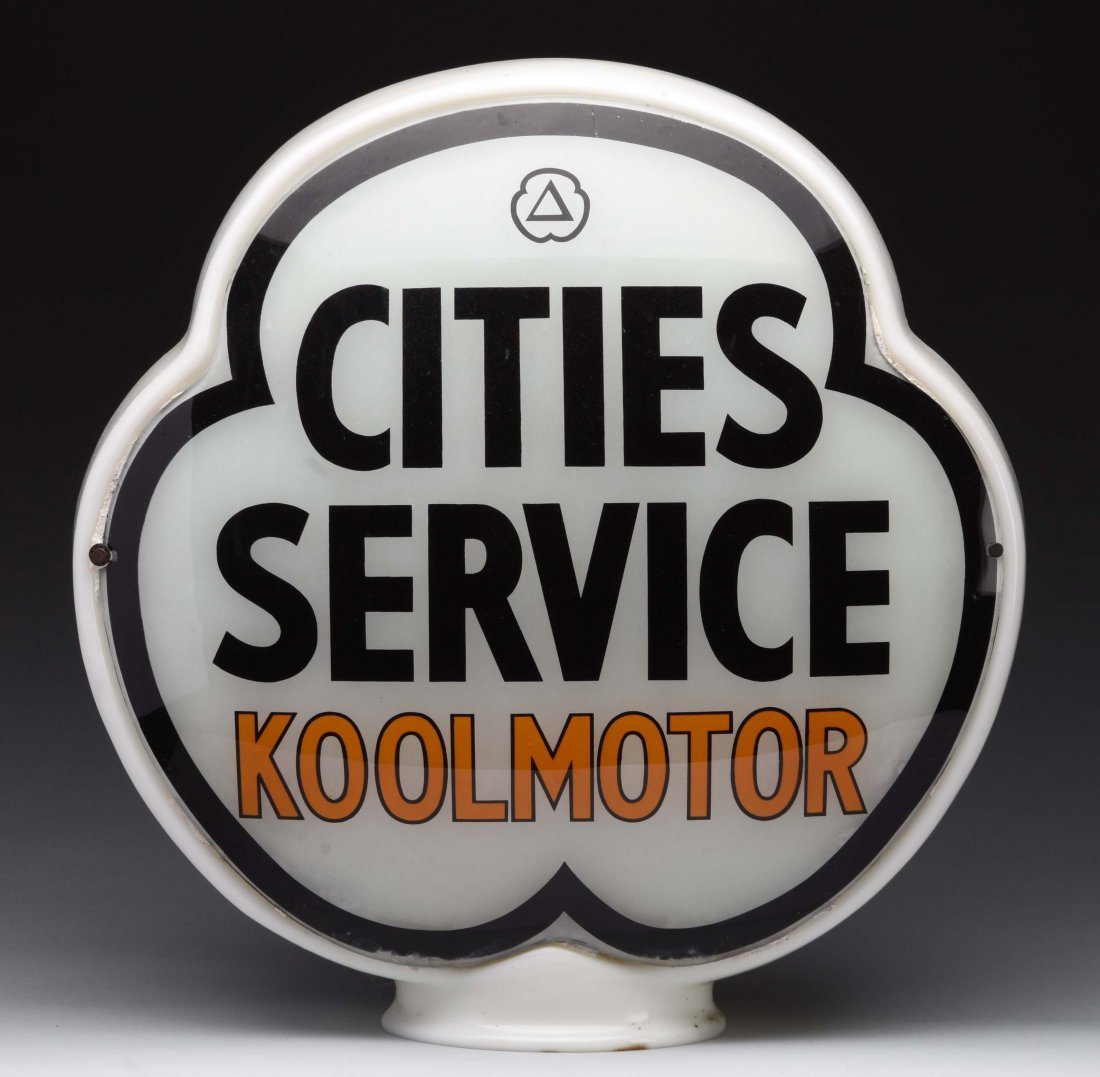 Cities Service Koolmotor Clover Globe Lenses.