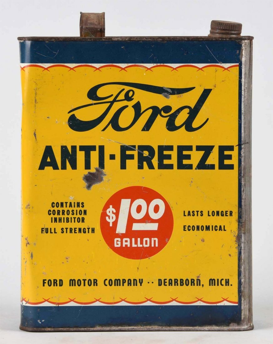 Ford Anti-Freeze One Gallon Flat Can. - 2