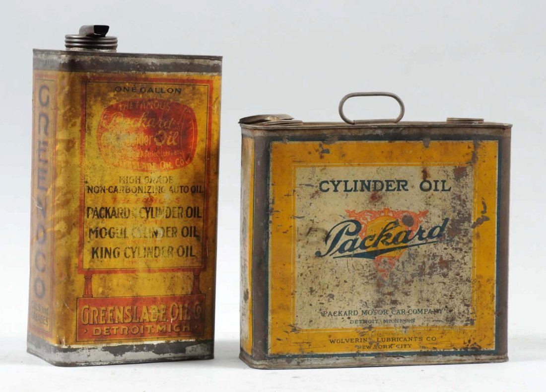 Lot of 2: Packard One Gallon Oil Cans. - 2