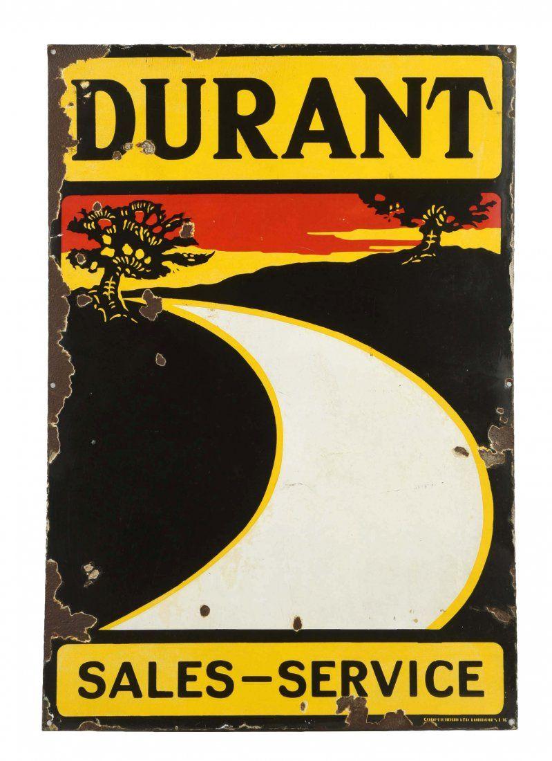 Durant (auto) Sales & Service Porcelain Sign.