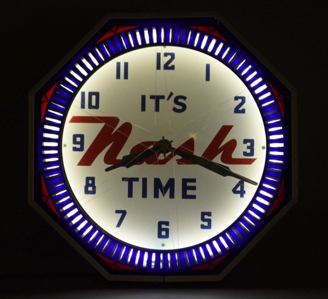 It's Nash Time Neon Clock, Restored. - 2