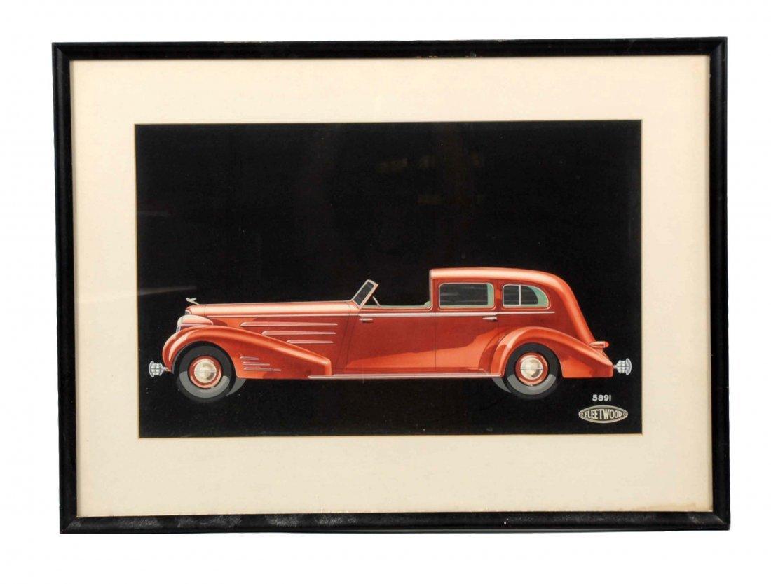 Cadillac Couch Built Car by Fleetwood Original Art.