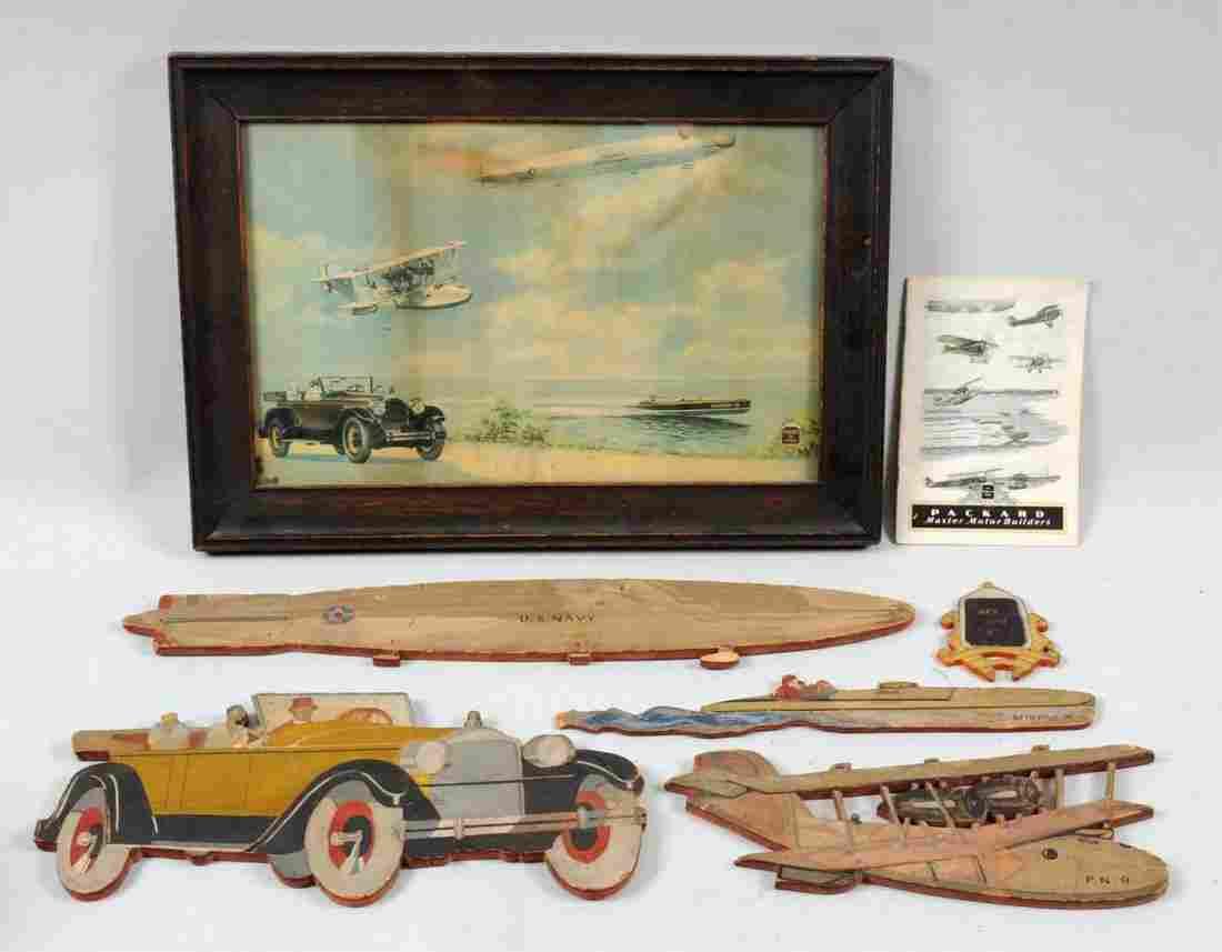 Packard Engine Advertising Items.