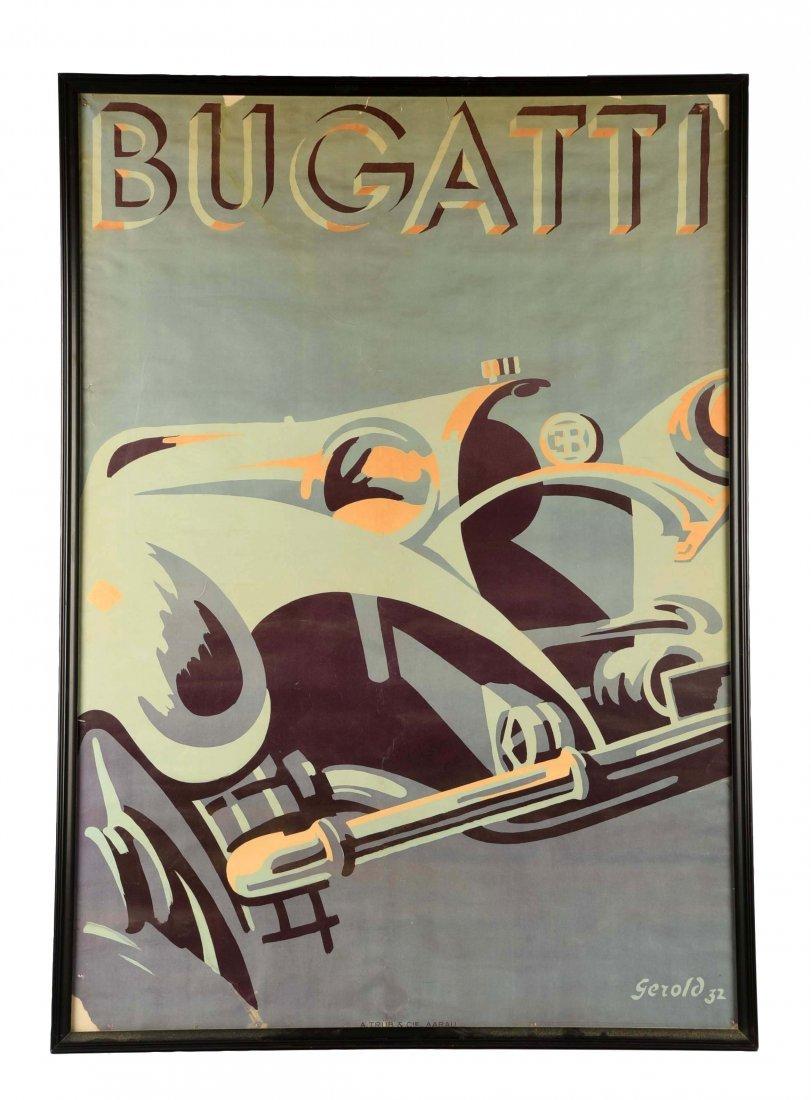 1932 Bugatti Automobile Poster.