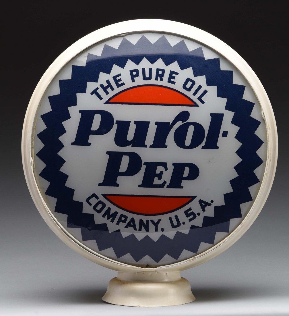 "Purol-Pep 15"" Globe Lenses."