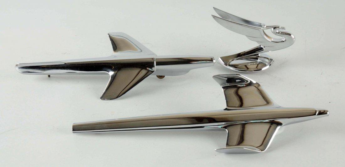 Lot of 3: Chevrolet Hood Ornates.