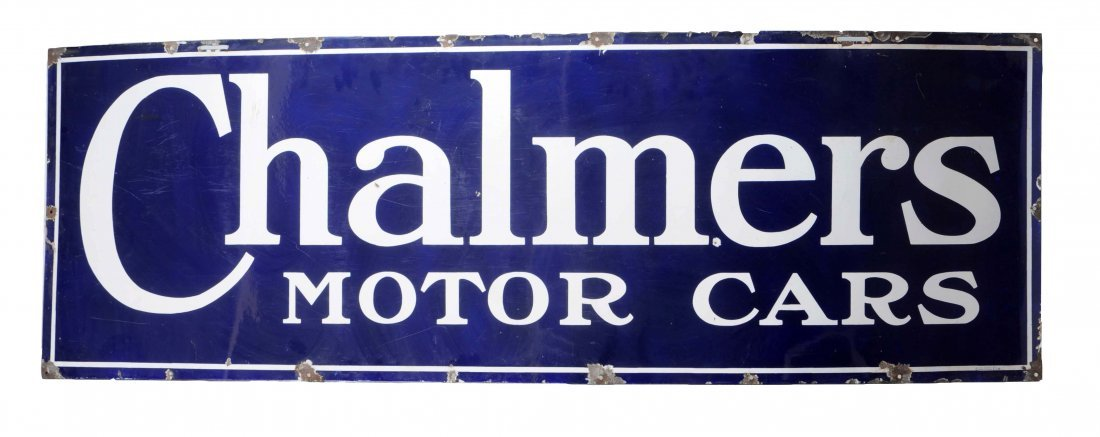 Chalmer Motor Cars Porcelain Sign.