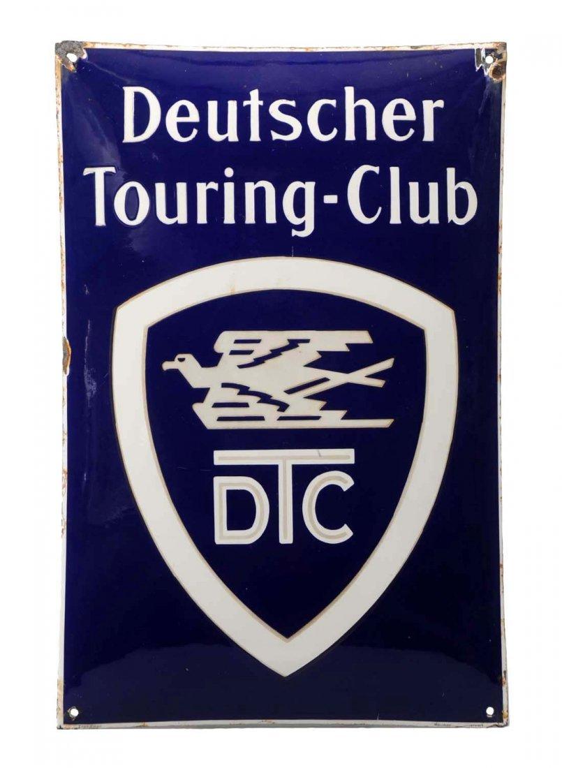 Deutscher Touring Club w/Logo Convexed Porcelain Sign.