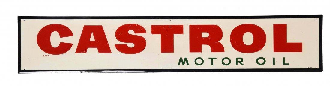 Castrol Motor Oil Embossed Tin Sign.