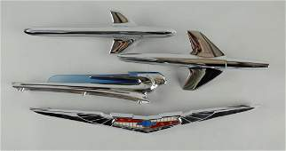 Lot of 3 1950s Chevrolet Hood Ornaments  Others