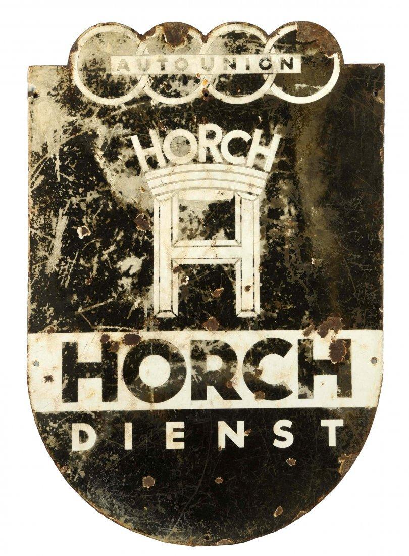 Horch Dienst (auto) Diecut Porcelain Sign.