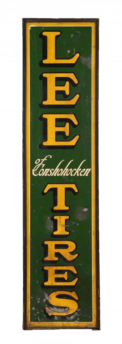 Lee Tires of Conshohocken Vertical Tin Sign.