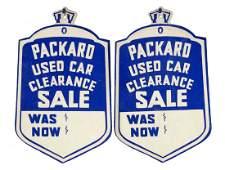 Lot of 2: Original Packard Used Car Tags.