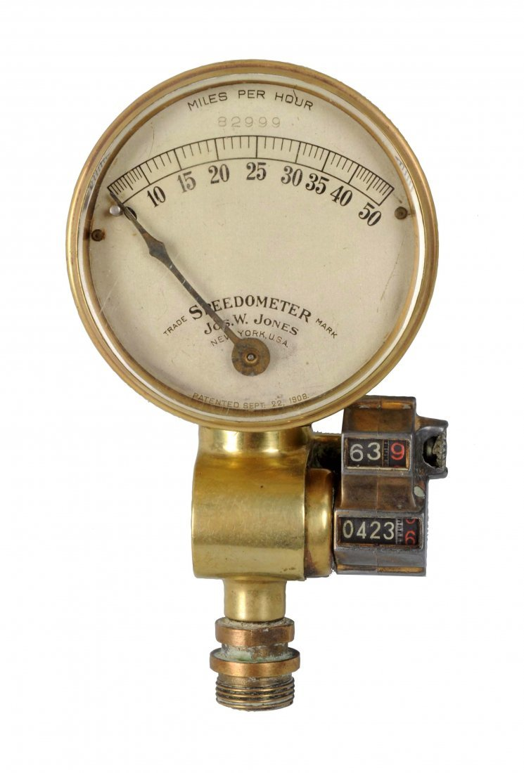 Early Brass Jones Speedometer.