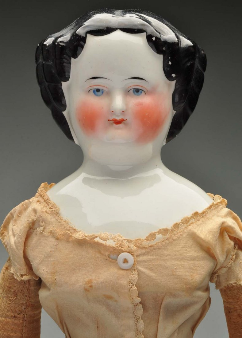 "19"" Antique Black Haired China Doll. - 2"